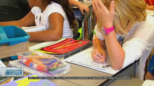Bill Limiting Race, Gender Curriculum Returns to Governor's Desk