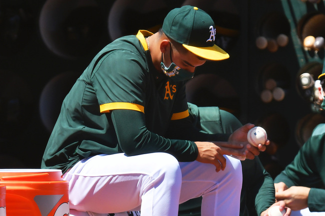 """A's Jesús Luzardo says his video game injury was a """"freak accident"""""""
