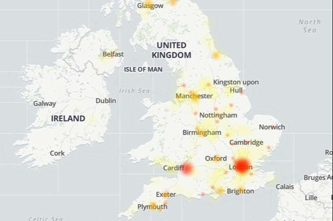Virgin Media down for thousands of broadband customers