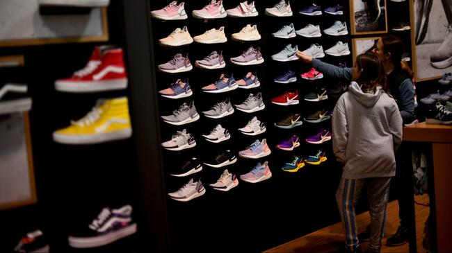 Americans went on a record buying spree at shoe stores in March