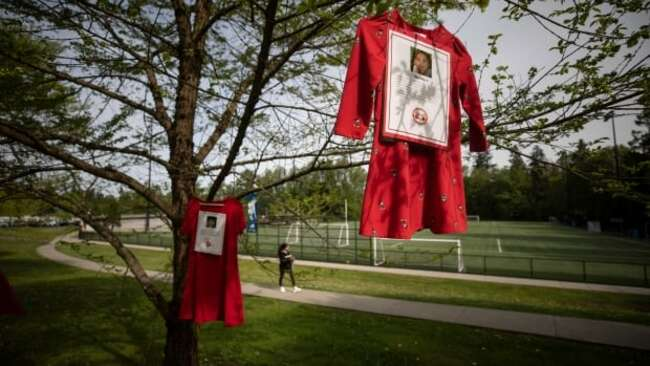 Red dresses hang across B.C. in a call for justice for missing and murdered Indigenous women